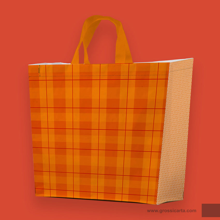 Shopper PLP ''collage arancio''