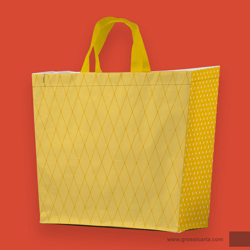Shopper PLP ''collage giallo''