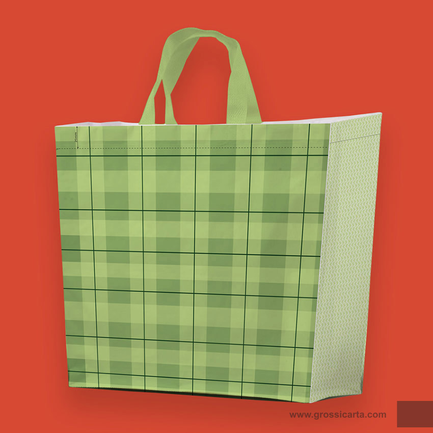 Shopper PLP ''collage verde''