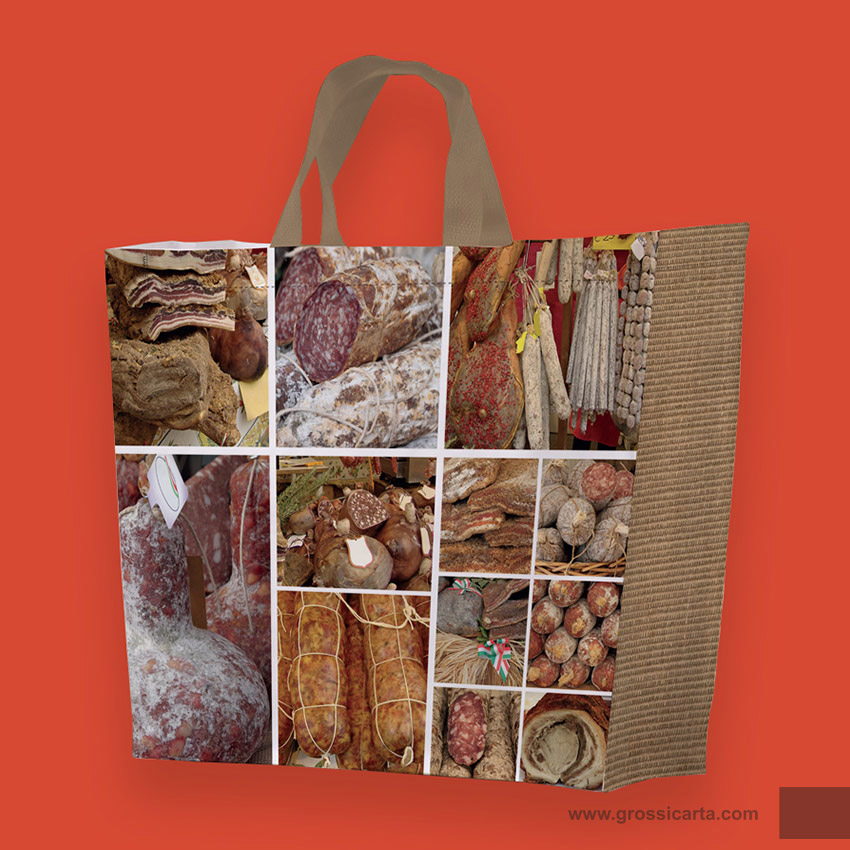 Shopper PLP ''salumi e foramggi collage''