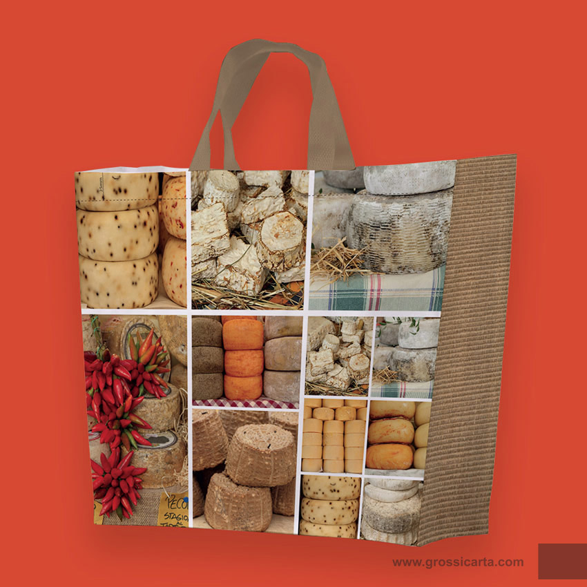 Shopper PLP ''salumi e formaggi collage''