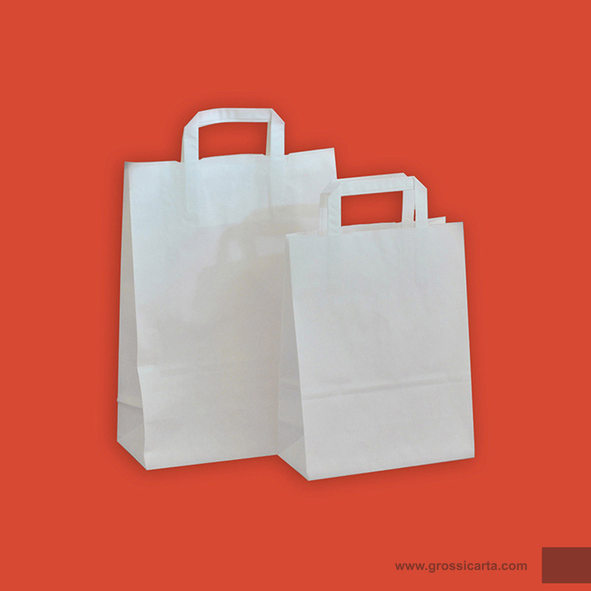 Shopper kraft bianco f.do quadro