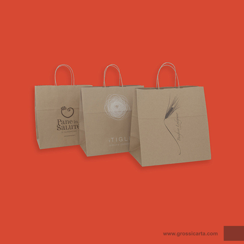 Shopper mod. japa in kraft avana riciclato