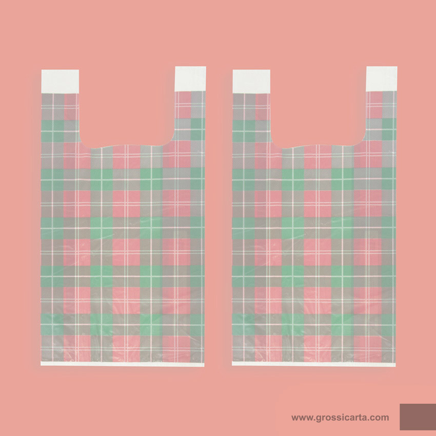 Shopper bio stampa Tartan - fronte - <strong>SOLD OUT</strong>